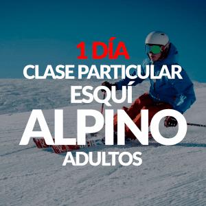 Clase Particular Esquí Alpino para adultos + Alquiler opcional