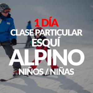 Clase Particular Esquí Alpino para niños+ Alquiler opcional