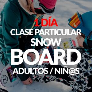 Clase Particular de Snowboard + Alquiler opcional