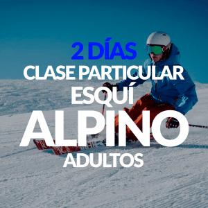2 Días de clase Particular Esquí Alpino para adultos + Alquiler opcional