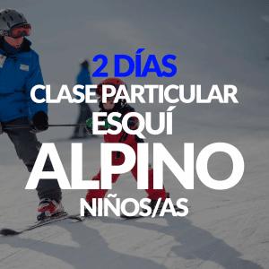 2 Días de clase Particular Esquí Alpino para niños+ Alquiler opcional