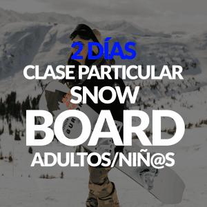 2 Días de clase Particular de Snowboard + Alquiler opcional